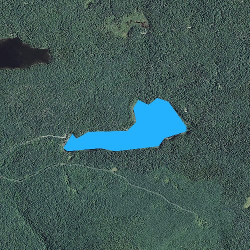 Fly fishing map for Little Bog Pond, New Hampshire