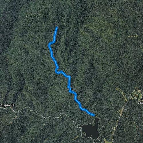 Fly fishing map for Little Buck Creek, North Carolina