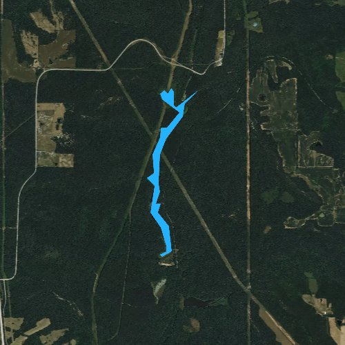 Fly fishing map for Little Cache Number 1 Reservoir, Illinois