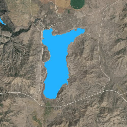 Fly fishing map for Little Camas Reservoir, Idaho