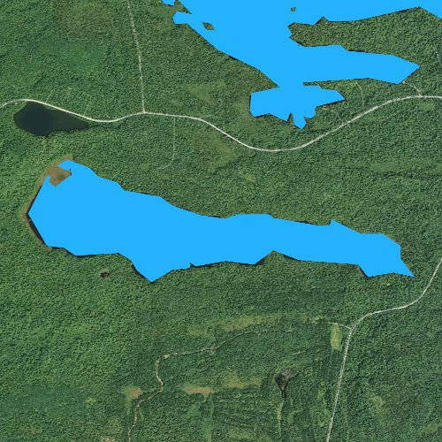 Fly fishing map for Little Cascade Lake, Minnesota