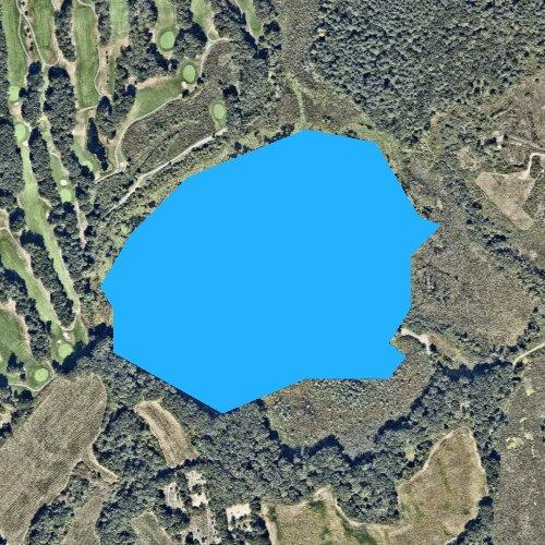 Fly fishing map for Little Chauncy Pond, Massachusetts
