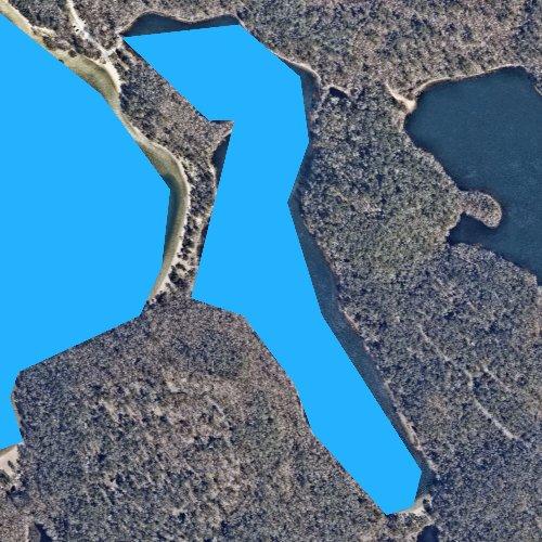 Fly fishing map for Little Cliff Pond, Massachusetts