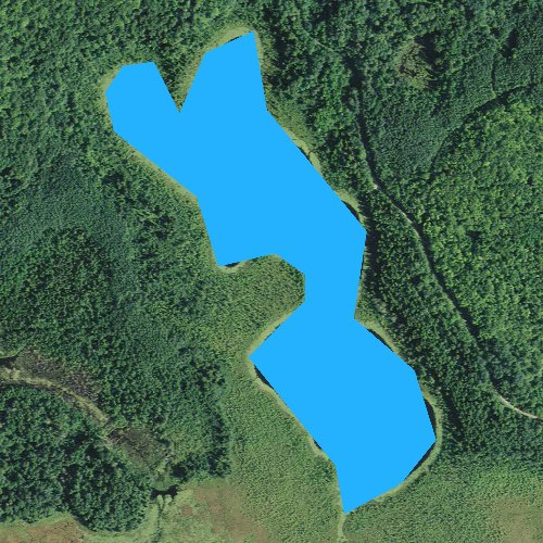 Fly fishing map for Little Cottonwood Lake, Minnesota