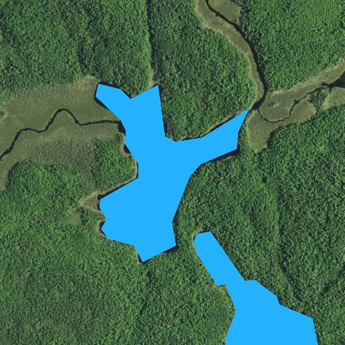 Fly fishing map for Little Crab Lake, Minnesota