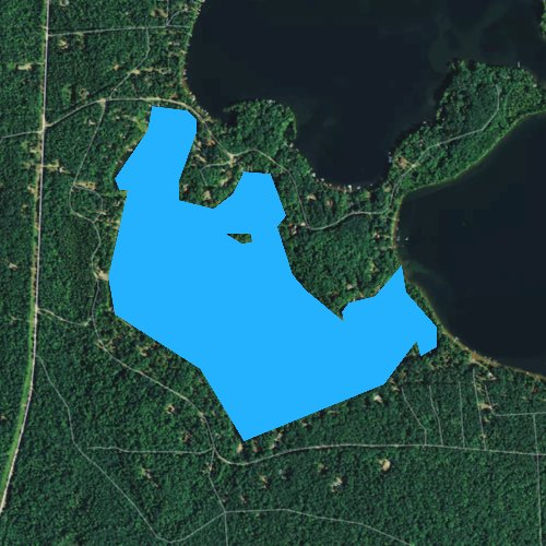 Fly fishing map for Little Crawling Stone Lake, Wisconsin