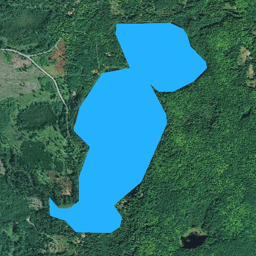 Fly fishing map for Little Crooked Lake, Wisconsin