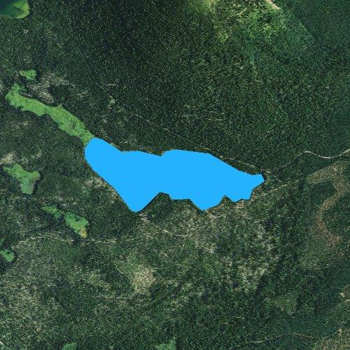 Fly fishing map for Little Cultus Lake, Oregon