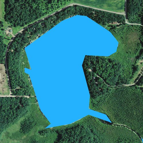 Fly fishing map for Little Devil Lake, Wisconsin