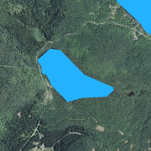 Fly fishing map for Little Diamond Pond, New Hampshire