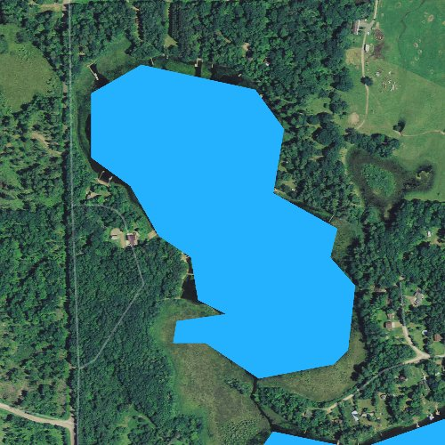 Fly fishing map for Little Dummy Lake, Wisconsin