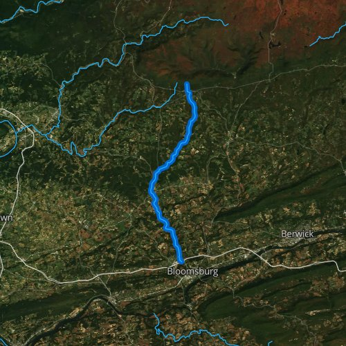 Fly fishing map for Little Fishing Creek, Pennsylvania