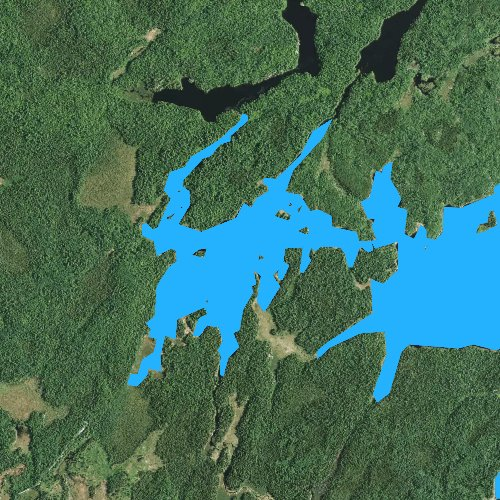 Fly fishing map for Little Gabbro Lake, Minnesota