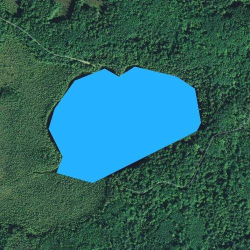 Fly fishing map for Little Gibson Lake, Wisconsin