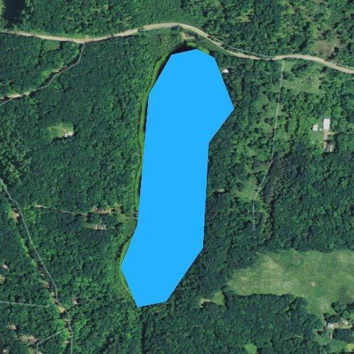 Fly fishing map for Little Granite Lake, Wisconsin