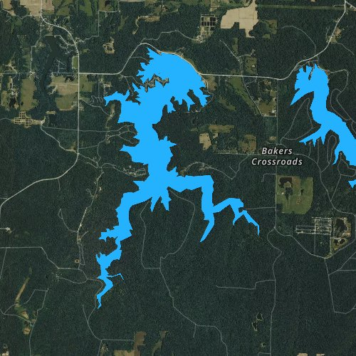 Fly fishing map for Little Grassy Lake, Illinois