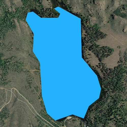 Fly fishing map for Little Half Moon Lake, Wyoming