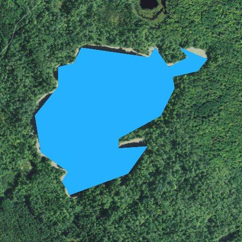 Fly fishing map for Little Horn Lake, Minnesota