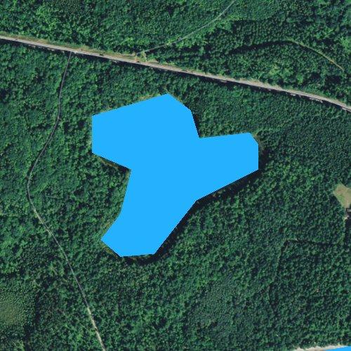 Fly fishing map for Little John Junior Lake, Wisconsin