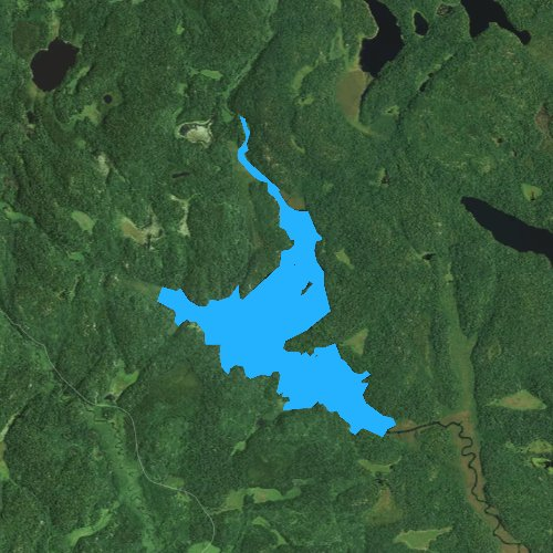 Fly fishing map for Little Johnson Lake, Minnesota