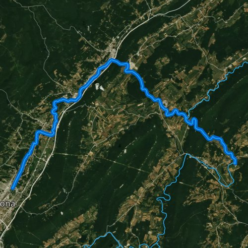 Fly fishing map for Little Juniata River, Pennsylvania