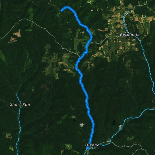 Fly fishing map for Little Kettle Creek, Pennsylvania