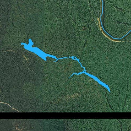 Fly fishing map for Little Lake, Arkansas