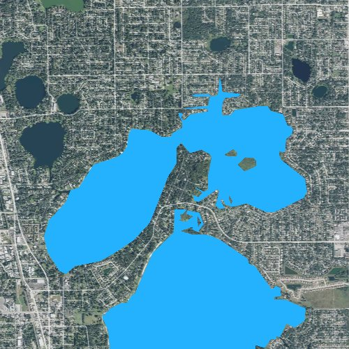 Fly fishing map for Little Lake Conway, Florida