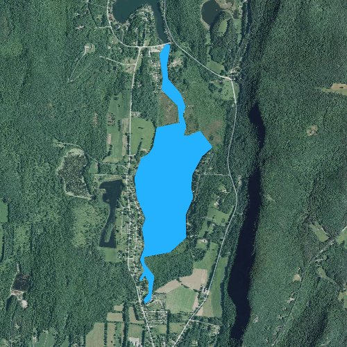Fly fishing map for Little Lake, Vermont