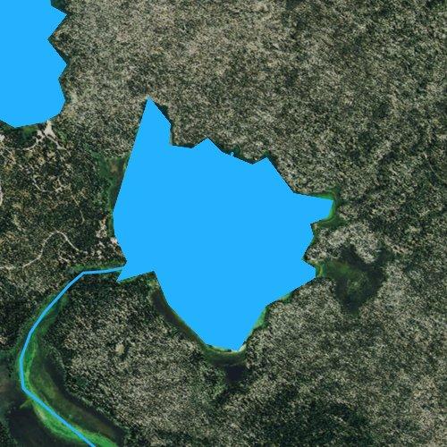 Fly fishing map for Little Lava Lake, Oregon