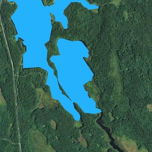Fly fishing map for Little Little Cut Foot Sioux Lake, Minnesota