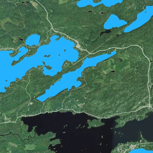 Fly fishing map for Little Long Lake, Minnesota