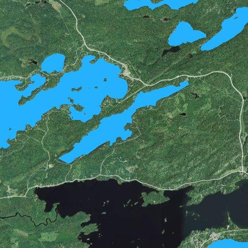 Fly fishing map for Little Long Lake: St. Louis, Minnesota