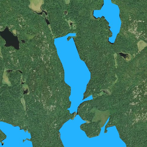 Fly fishing map for Little Loon Lake, Minnesota