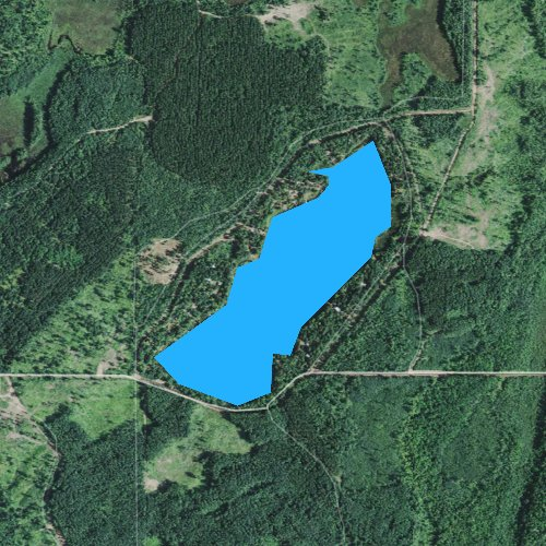 Fly fishing map for Little McGraw Lake, Wisconsin