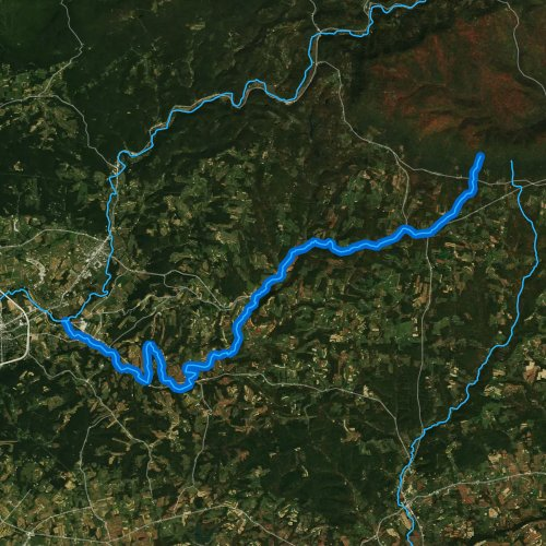 Fly fishing map for Little Muncy Creek, Pennsylvania