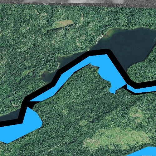 Fly fishing map for Little North Lake, Minnesota
