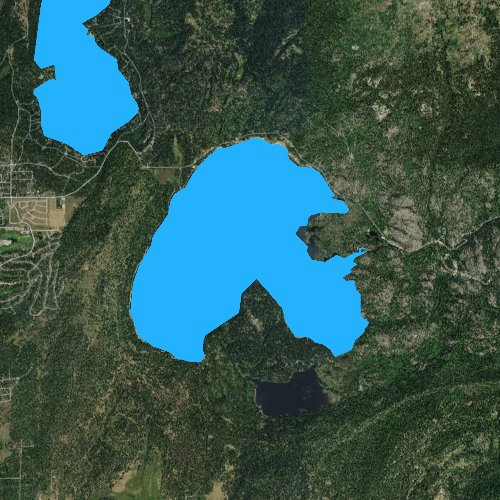 Fly fishing map for Little Payette Lake, Idaho
