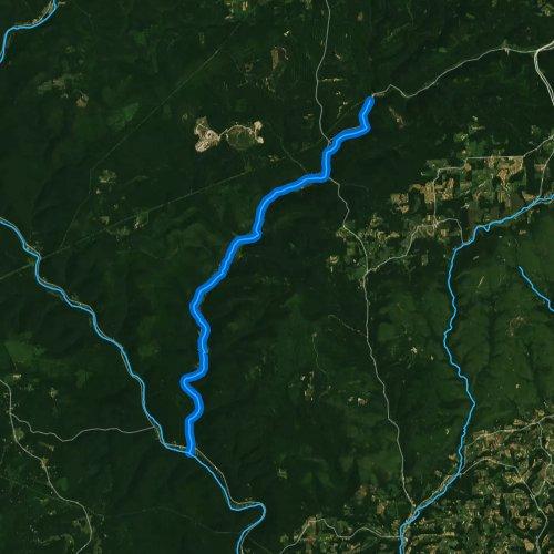 Fly fishing map for Little Pine Creek, Pennsylvania