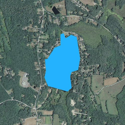 Fly fishing map for Little Pond, Connecticut