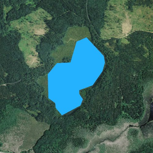 Fly fishing map for Little Portage Lake, Minnesota