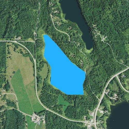 Fly fishing map for Little Ranier Lake, Minnesota