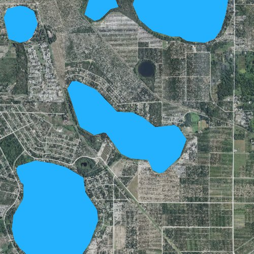 Fly fishing map for Little Red Water Lake, Florida