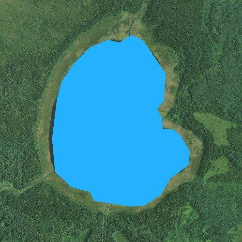 Fly fishing map for Little Rice Lake, Minnesota