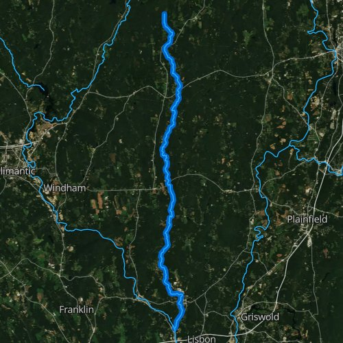 Fly fishing map for Little River, Connecticut