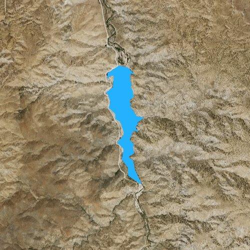 Fly fishing map for Little Rock Reservoir, California