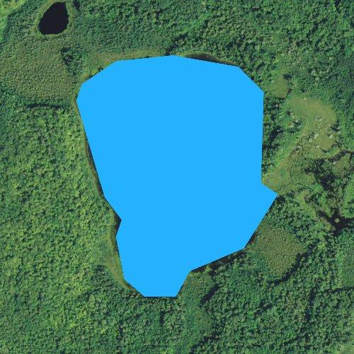 Fly fishing map for Little Rose Lake, Minnesota