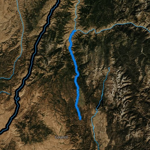 Fly fishing map for Little Salmon River, Idaho