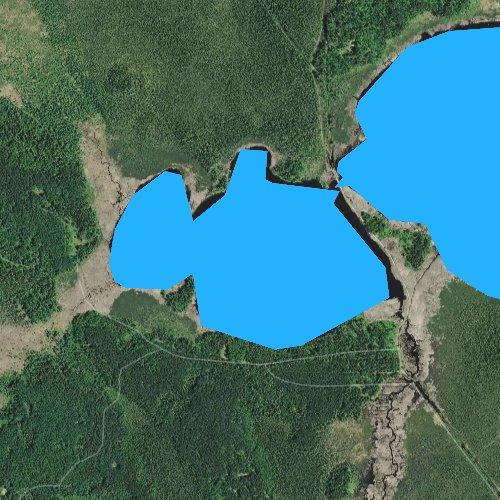 Fly fishing map for Little Sandy Lake, Minnesota