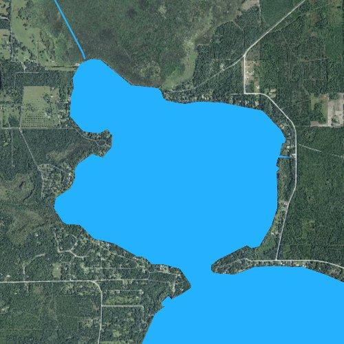 Fly fishing map for Little Santa Fe Lake, Florida